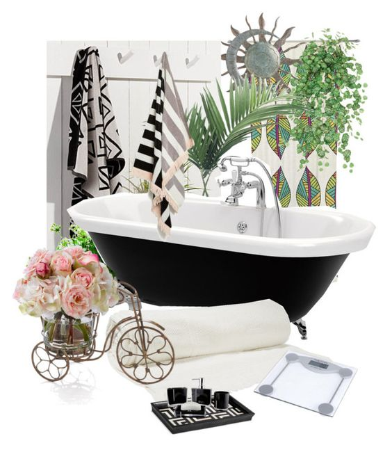 """Parenthesis good bathroom"" by hiroko-eirai on Polyvore featuring interior, interiors, interior design, ホーム, home decor, interior decorating, NDI, Balenciaga, L'Objet と Diane James"