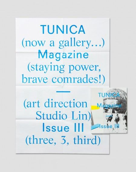 TUNICA Magazine Issue 3 by Studio Lin http://incredibletypes.com/tunica-magazine-issue-3