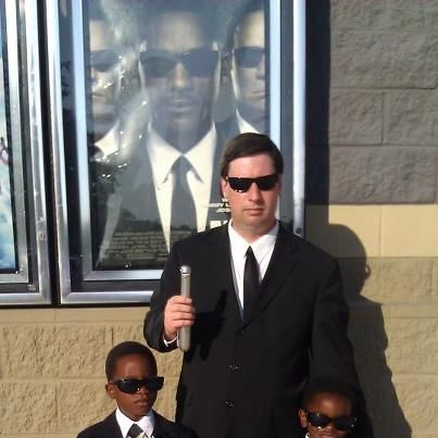 Had to put on their black suits for the movie! :) Men In Black!