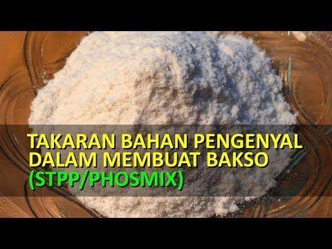 Takaran Bahan Pengenyal Dalam Membuat Bakso Stpp Phosmix Youtube Bakso Adonan Daging