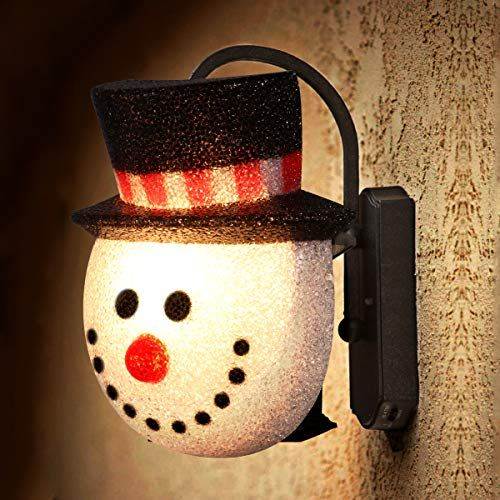 2 Pack Christmas Snowman Porch Light Covers Christmas Hol Https Www Amazon Porch Light Covers Outdoor Christmas Decorating With Christmas Lights