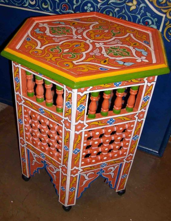 Tavolino marocchino mobili e complementi tavoli tavolini in legno marocchini di artigianato - Mobili marocchini ...