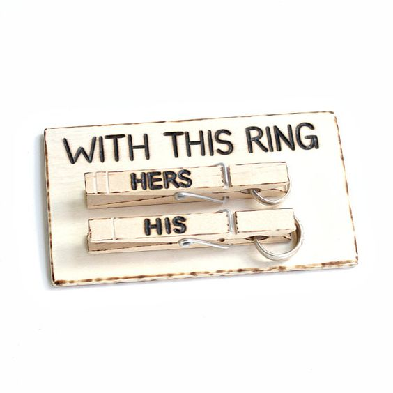 Alternative Ring Bearer Pillow With This Ring by creativebyheart, $19.99
