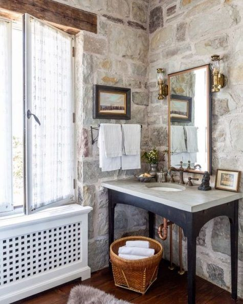 25 Stone Bathroom Decor Ideas With Images Home Decor Country