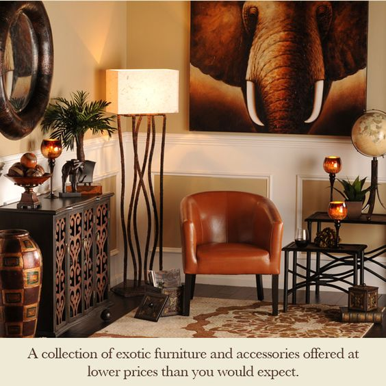 The elephants elephants and living rooms on pinterest for African inspired decor living room
