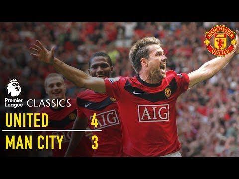 Manchester United 4 3 Manchester City 09 10 Premier League Classics Manchester United Youtube Manchester United Manchester City Premier League