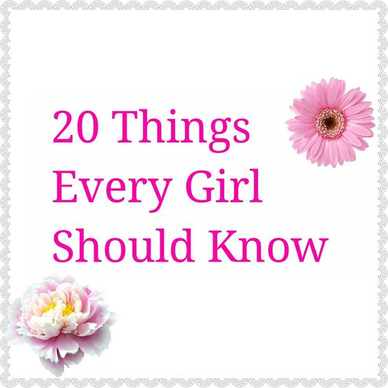 Life Hacks | 20 Things Every Girl Should Know
