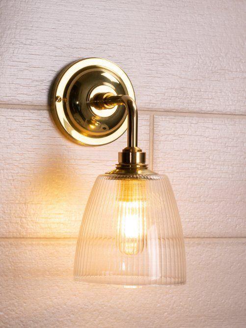 Pixley Skinny Ribbed Glass Contemporary Bathroom Light Bathroom Wall Lights Glass Wall Lights Wall Lights