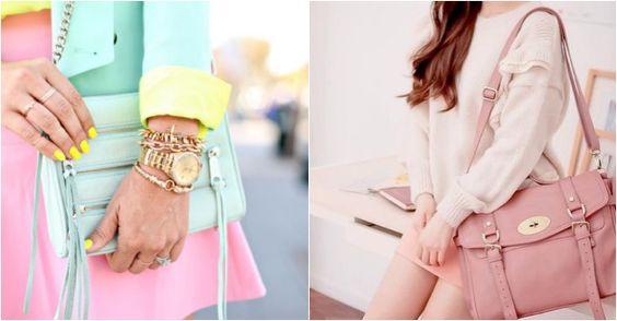 pastel met felle zomer gele nagellak, leuke combinatie.