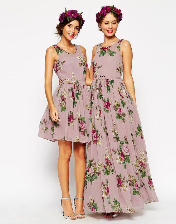 ASOS WEDDING Lilac Floral Skater Mini Dress - so Asos has a bridesmaid dress collection now!
