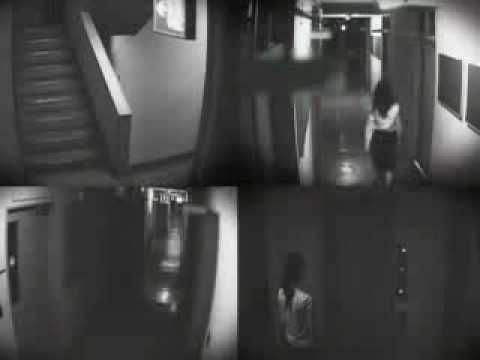 Real The Grudge Japanese Ghost caught on security Camera