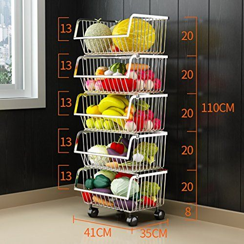 Kitchen Shelf Stainless Steel Vegetable Rack Fruit Storage Rack