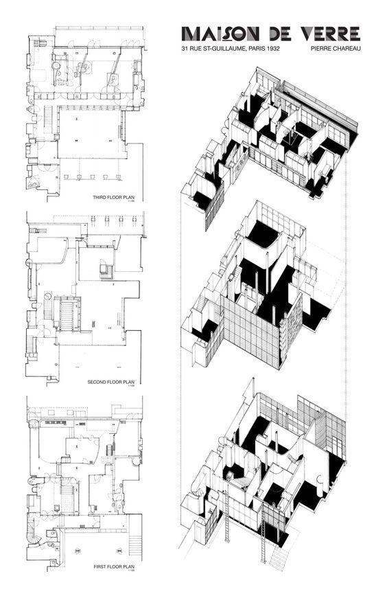 Pierre chareau and bernard bijvoet maison de verre paris - Maison en pierre giordano hadamik architects ...