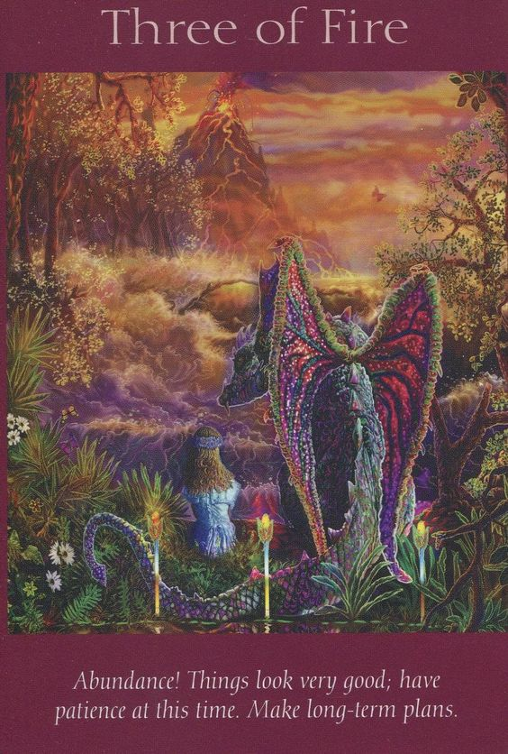 Angel Tarot Card - Three Of Fire