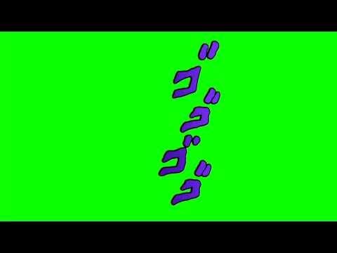 Green Screen Effects Youtube Greenscreen Green Background Video Jojo S Bizarre Adventure