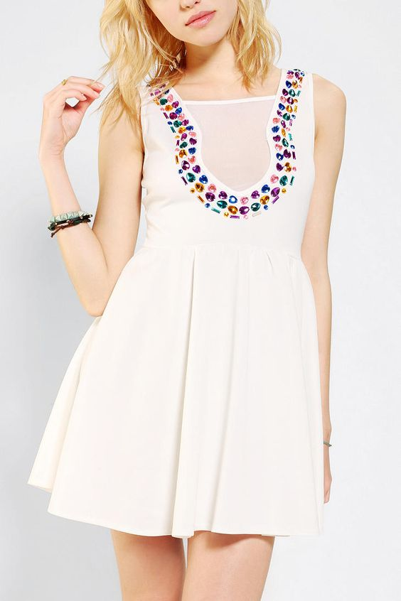 Reverse+Bejeweled+Skater+Dress
