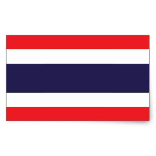 Thai Flag Stickers Zazzle Com In 2020 Thailand Flag Thai Flag Print Stickers