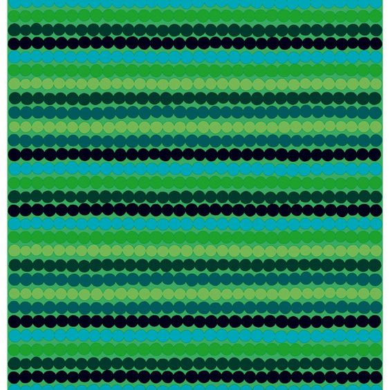 Marimekko Räsymatto fabric, green ($58) ❤ liked on Polyvore
