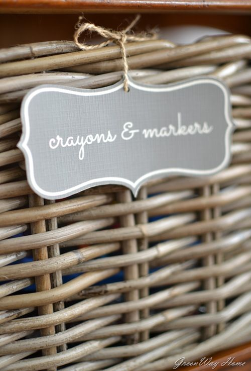 Organizing With Labels In Picmonkey. All Of My Baskets Have Labels