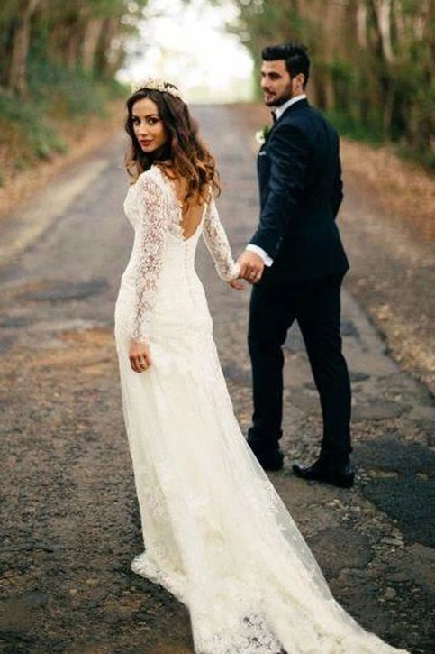 Welcome To Our Store Thanks For Your Interested In Our Gowns We Could Make The D Backless Lace Wedding Dress Lace Wedding Dresses Uk White Lace Wedding Dress