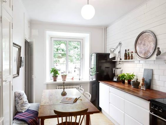 small spaces | Kitchen | wood counter top