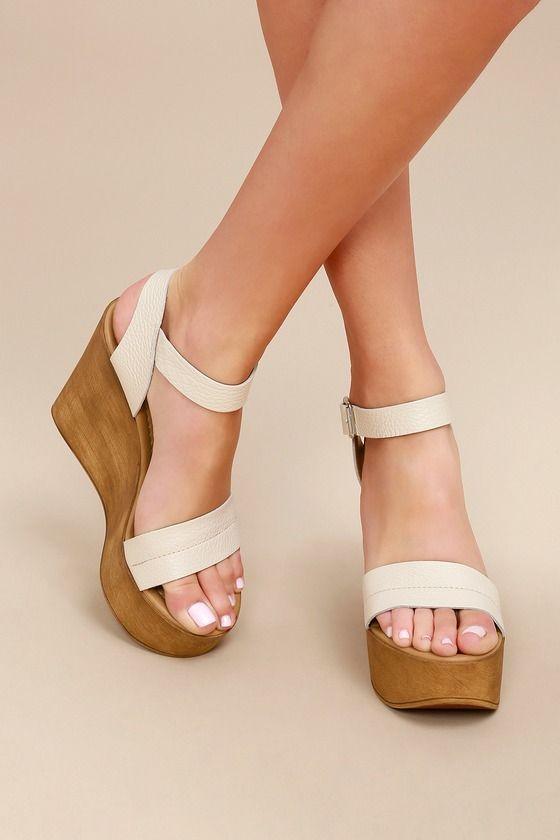 Belma Off-White Wedge Sandals 1 | Wedge