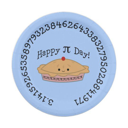 Happy Pi Day Pie Paper Plate Zazzle Com In 2020 Happy Pi Day Paper Plates Pi Day
