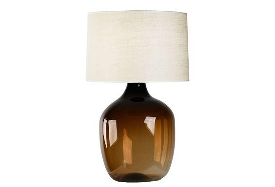 Glass Vase Lamp, Amber