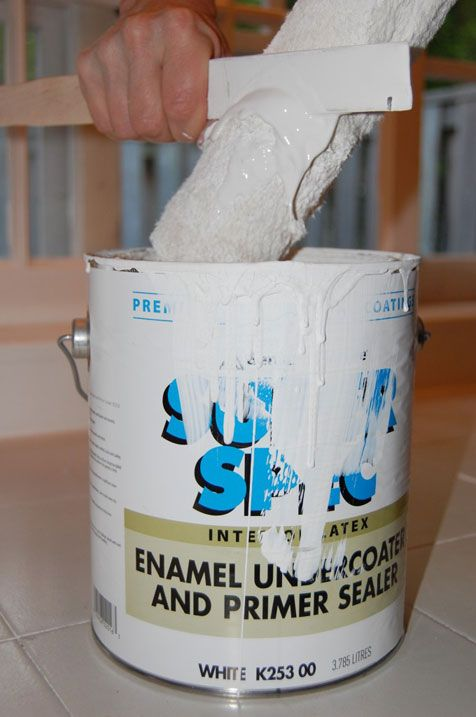 NEWS FLASH: that little curved cut out on a paint stick is to squeeze the paint out of your roller back into the paint can. WHY DID I NOT KNOW THIS????