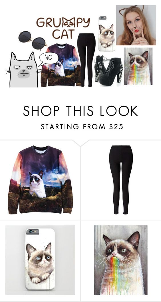 """""""cute grumpy cat outfit"""" by polarbear786 on Polyvore featuring Miss Selfridge"""