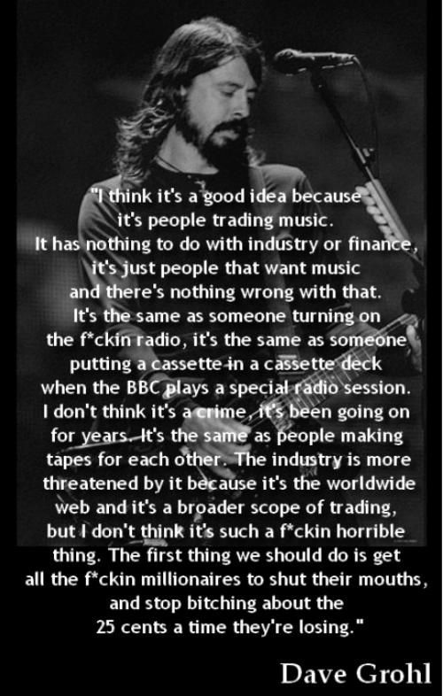 thank you, Mr. Grohl.