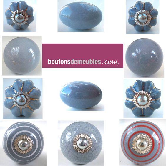 D tails sur boutons de meubles poign es de porte placard - Bouton de porte en porcelaine ...