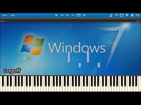 Windows 7 Sounds In Synthesia Youtube Windows Youtube
