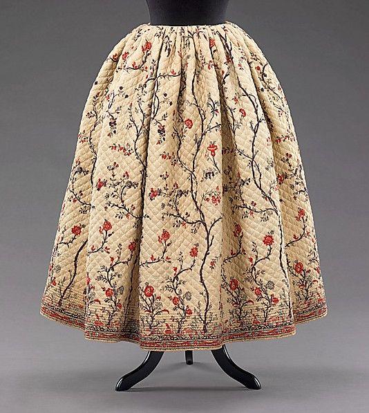 Skirt (Petticoat) Culture: French Medium: cotton Metropolitan Museum of Art