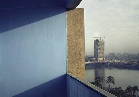 Adam Bartos:  Cairo, Egypt (Ramses Hilton under construction), 1980