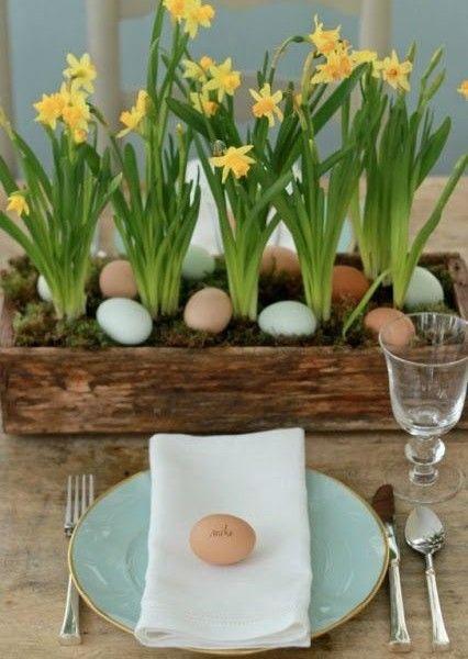 Tischdekoration f r ostern ostern dekoration for Ostern dekoration