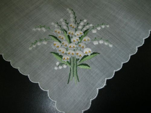 Lilly of the valley handkerchief