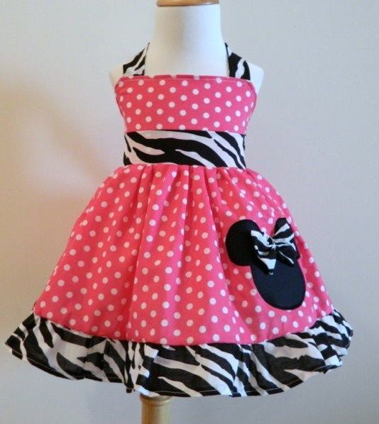 Handmade Halter Minnie Mouse Jumper Dress Size from 12M to 5T #Handmade #DressyEverydayHolidayPageantWedding