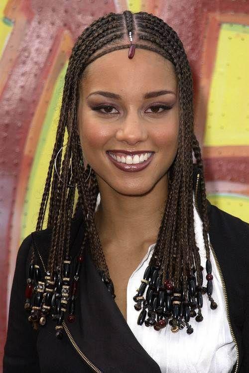 Alicia Keys Symmetric Box Braids Alicia Keys Hairstyles Braids For Black Women Hair Styles