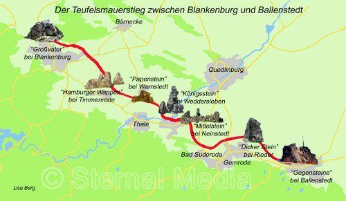 Karte Teufelsmaeur Stieg Teufelsmauer Ausflugsziele Ausflug