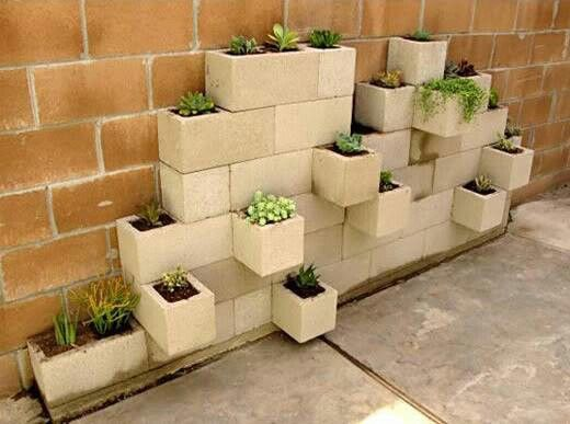 """block herb garden - I'm guessing you have to have some blocks with solid """"tops"""" for this to work."""