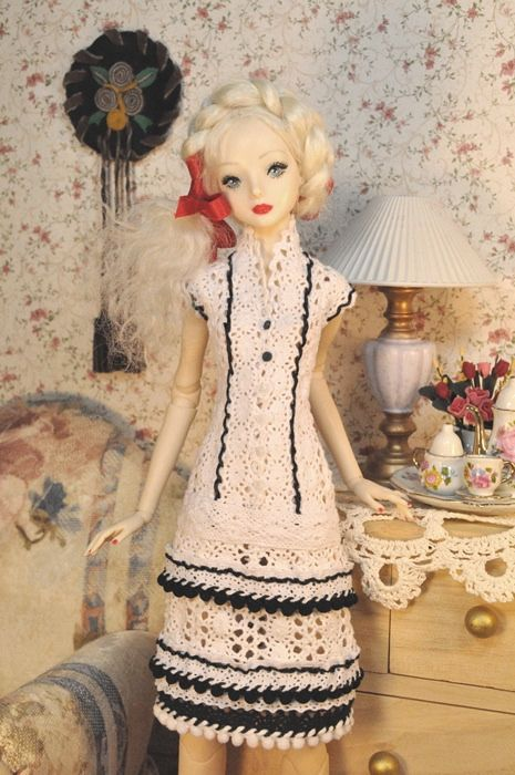 142-3. Selling on eBay dress for resin and porcelain Enchanted Dolls ♡