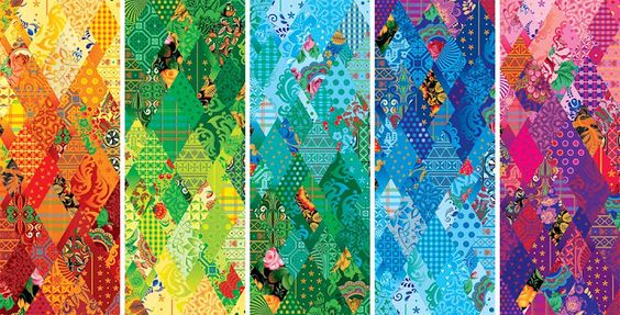 These Sochi designs resemble Thousand Pyramids and Diamond quilts