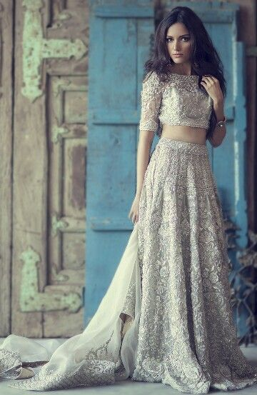 Go Against Tradition And Consider A Two Piece Wedding Outfit Rather Than Dress