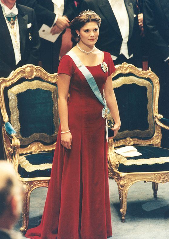 Crown princess Victoria at her Nobel-prize debut in 1995