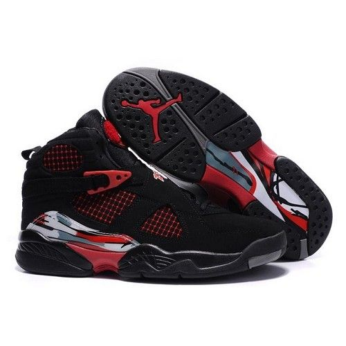 Air Jordan 8 (VIII) New Exclusive Collection Black / Varsity Red Men Shoes $53.00 Low price go to:  http://www.jordanshoesmart.com