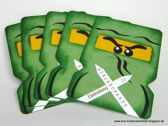 #Ninjago-#Einladungskarten - jetzt auch in Grün, Weiß, Blau und Gold   http://eris-kreativwerkstatt.blogspot.de/2015/10/ninjago-einladungskarten-jetzt-auch-in.html  Die Ninjago-Karten (5er Pack für 12,50 € + Versandkosten) bekommt Ihr entweder über meinen Dawanda Shop (http://de.dawanda.com/shop/eris-kreativwerkstatt) oder direkt bei mir: erika.druschba@web.de oder Tel: 06031/696889   #stampinup #einladung #karte #teamstampingart