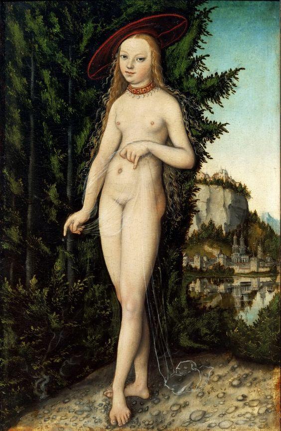 Venus delante de un paisaje, Lucas Cranach