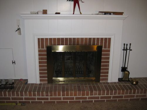 White Painted Brick Fireplaces | ... painted white paneling may be replaced with drywall painting options