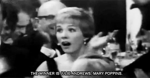Julie Andrews winning Best Actress for Mary Poppins <3